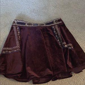 Velvet Burgundy Skirt